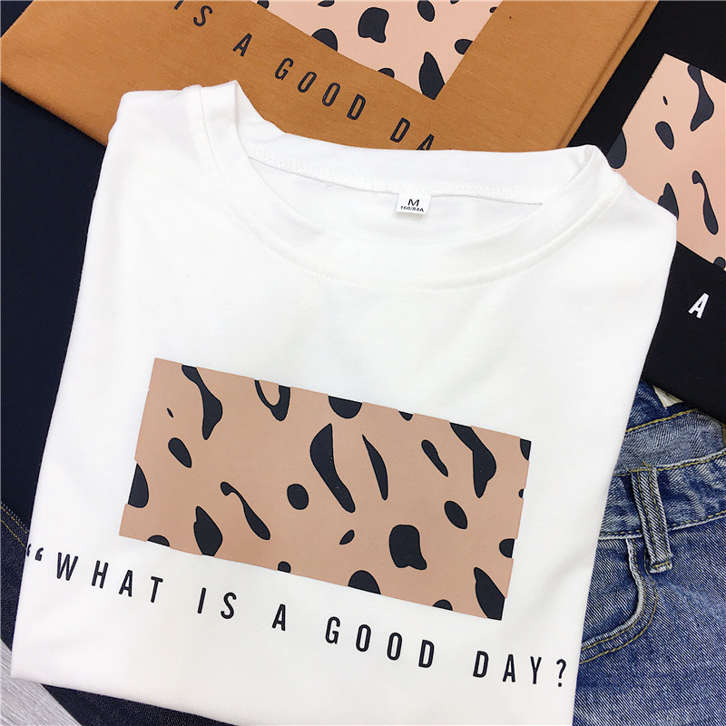 HTB1NkoWaTHuK1RkSndVq6xVwpXaI - Hirsionsan Leopard Print T shirts Women Spring Summer Hot Tees Casual O-Neck Short Sleeve Harajuku Cool T-shirt Female Tops