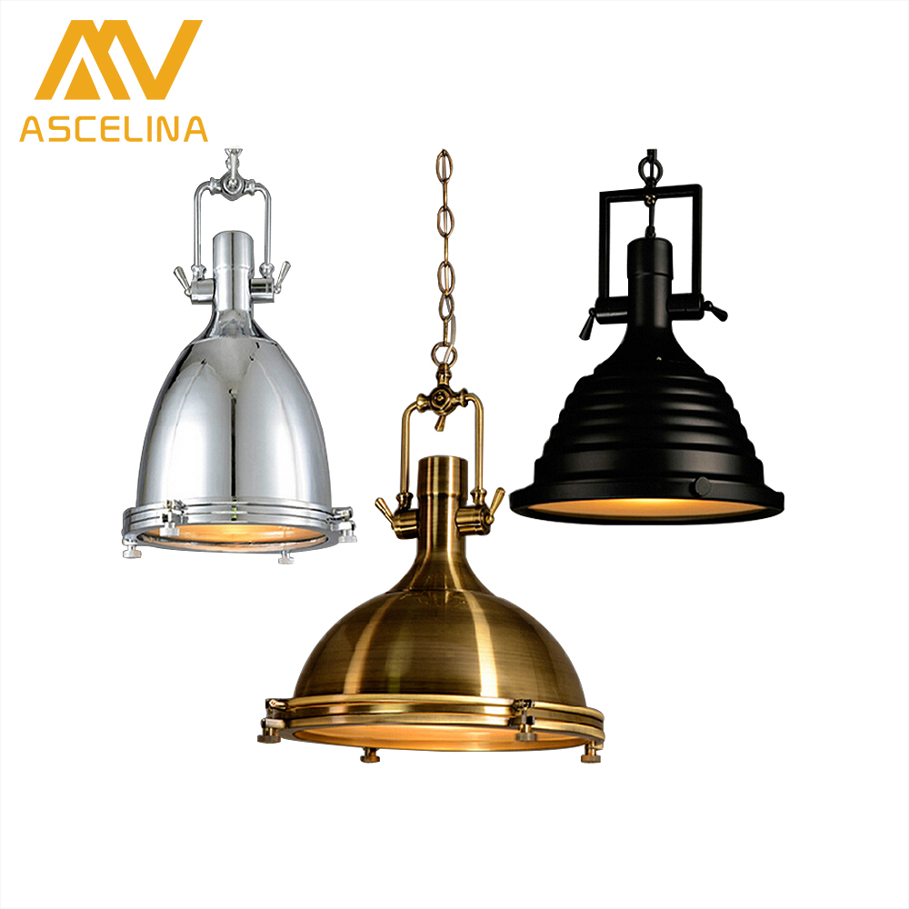 ASCELINA Vintage pendant lights LED hanglamp loft style Decorative light fixture industrial lighting for Living room E27 85-260V ascelina led pendant lights loft style industrial lighting vintage hanglamp with lamp shade for living room e27 85 260v