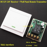 DC 12V 13V 14V 15V 16V 18V 24V Relay Receiver 30A RF Remote Control Switch Wall