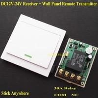 DC 12V 13V 14V 15V 16V 18V 24V Relay Receiver 30A RF Remote Control Switch Wall