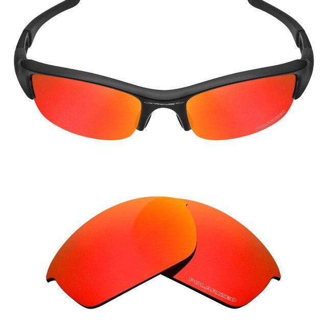 aff39723c121b Mryok + POLARIZADA Lentes de Reposição para óculos Oakley Flak Jacket  Sunglasses Fogo Resistir À Água