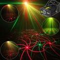 Nova Alta Qualidade Mini efeito 2em1 R & G estrelas Áudio Whirlwind Laser Projector Stage Disco DJ Clube KTV luz festa de família MOSTRAR p14