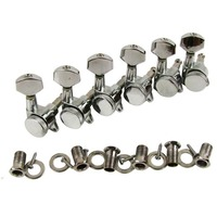 Musiclily Individual Left Guitar Tuners Machine Head Tuning Pegs Keys For Replacement Chrome