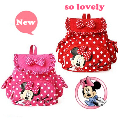 HOT Children Little Small Minnie Mouse Baby Girls Backpacks NEW 2015 0EqXw50