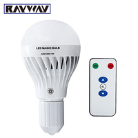 Free Shipping LED Emergency Lamp 7W E27 With Remote Controller Dimmable Led Bulb 85 265V Rechargeable