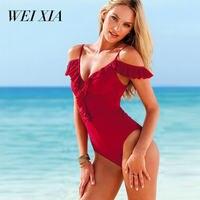 Christmas Gift WEIXIA Summer Women Swimsuit Female Swimwear Sexy One Piece Beach Swim Wear
