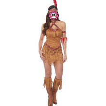 Abbille Free shipping adult women Halloween Cosplay Clothing sexy fashion dress indian role-playing Costume carnival party 2017