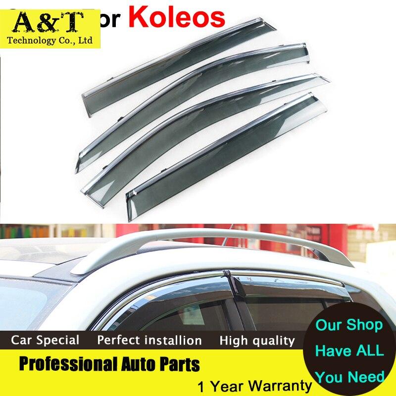 car styling Windows Visors For Renault Koleos 2012 2013 2014 2015Sun Rain Shield Stickers Covers Car