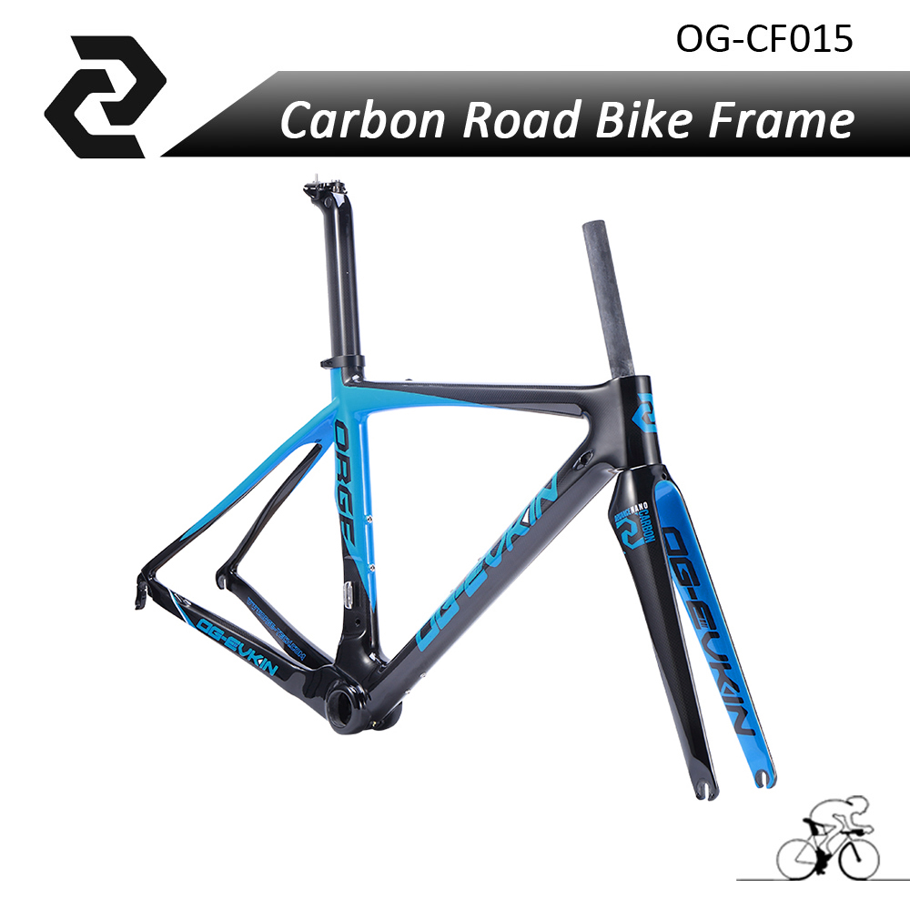 Super Light Carbon Road Frame 3k Carbon Road Bike Frameset 49 52 54 56cm China Glossy di2 with Fork Seatpost Clamp Chino 2017 bontrager 26 2 2 52 54 купить шину