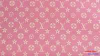 High Quality Pink Pattern Faux PU Leather Fabric For DIY Sewing Sofa Table Shoes Bags Bed