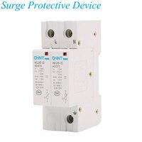 2P 15KA 40KA/275V House Surge Protector Protective Low voltage Arrester Device IP20 Lightning protection NU 6 II 2P
