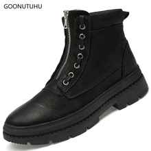 цены Fashion men's boots army genuine leather cow causal ankle shoes work snow boot man big size shoe tactical military boots for men