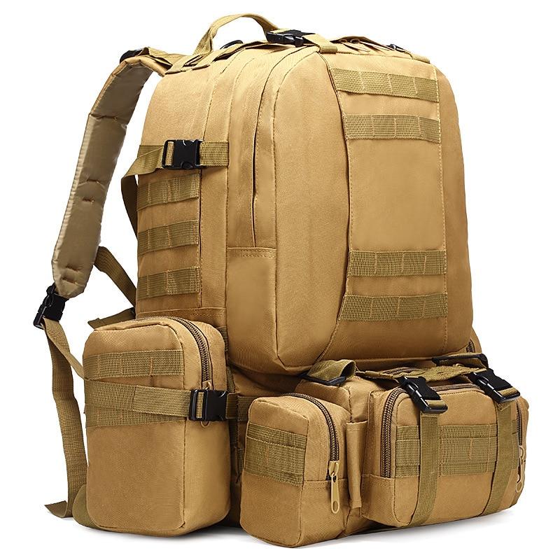 TAK Sac /à Dos de Randonn/ée 50L Sac /à Dos Tactique Militaire 60L Sacs Molle Homme Imperm/éble pour Sport en Plein Air Voyage Trekking