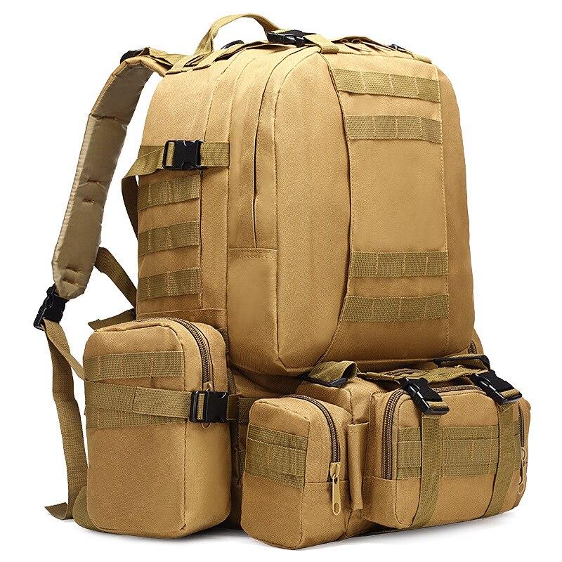 50L mochila táctica 4 en 1 bolsas militares del Ejército mochila Molle deporte al aire libre bolsa de los hombres de viaje de senderismo escalada bolsa