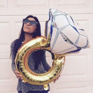 Image 1 - Globo grande de 43 pulgadas, anillo de diamante, globos de aluminio, decoración inflable para boda globo de helio, suministros para fiestas y eventos