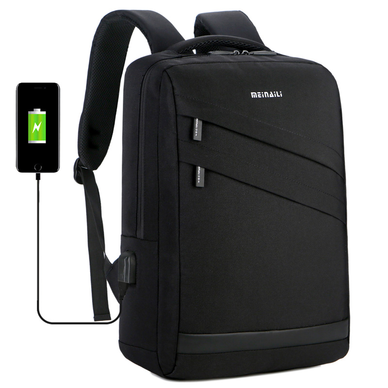 Business Laptop Backpack 14 15.6 Inch Fashion Men Travel Back Pack Multifunction Nylon School Black Bagpacks for Teenagers 2019Business Laptop Backpack 14 15.6 Inch Fashion Men Travel Back Pack Multifunction Nylon School Black Bagpacks for Teenagers 2019