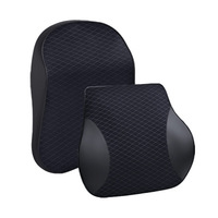 Car Pillow Car Backrest Massage Pillow High Quality Soft Comfortable Breathable Memory Cotton Back Support Waist Pillow For Car