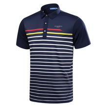 Men Golf Shirts 2017 Summer Striped shirts Short Sleeve Golf Appreal Men Breathable sport Polo Shirts Golf tops