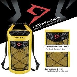 Image 4 - Piscifun 10 40l bolsa seca à prova d água + estojo do telefone flutuante seco, pacote traseiro para esportes aquáticos, pesca, barco, rafting, natação