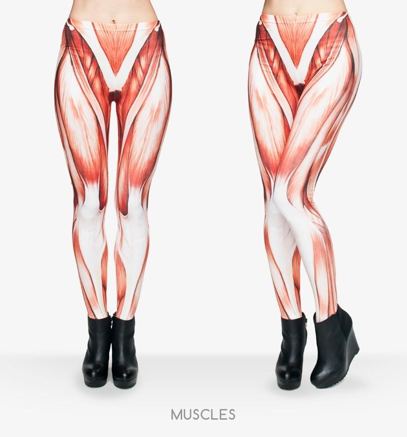 Забавный мышцы Леггинсы для женщин девочек Для женщин женские 3D печатных время приключений Леггинсы для женщин
