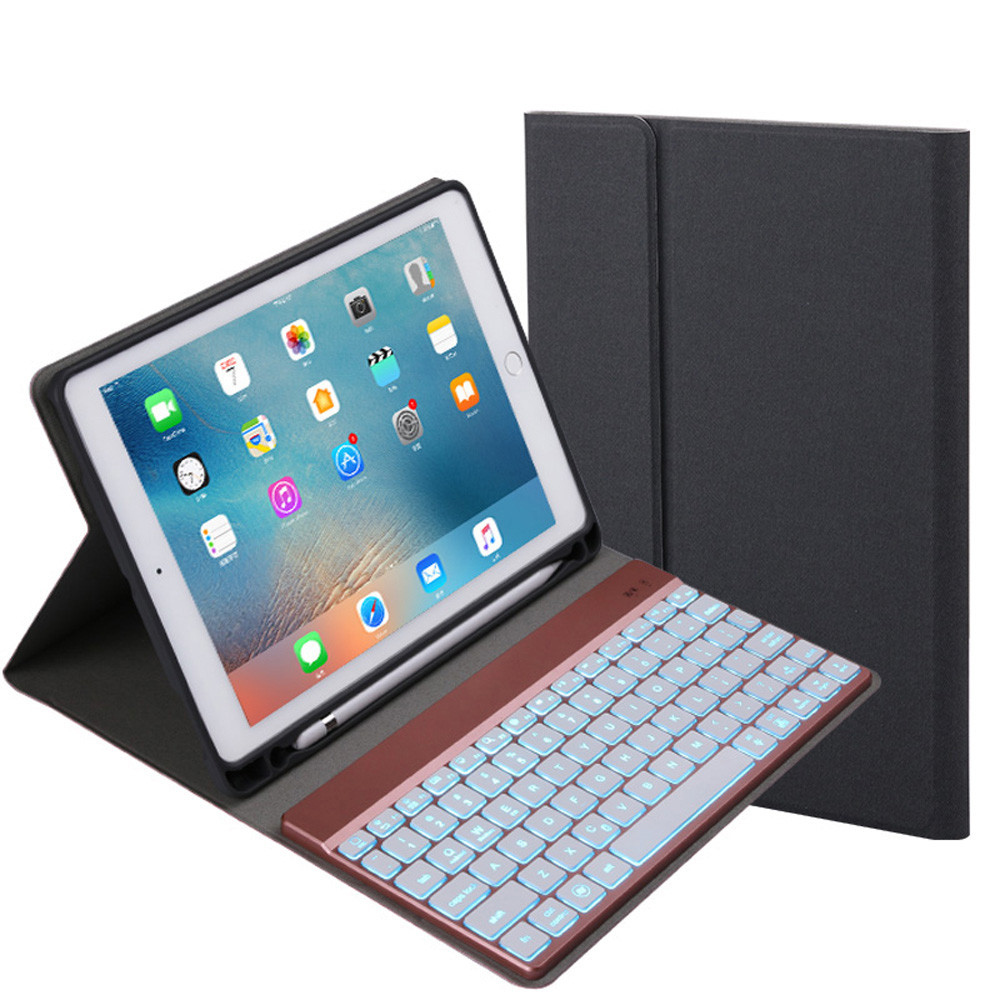 Detachable Keyboard 7-Color Backlight tablet protective Case Smart Cover Foror iPad PRO 10.5 inch new A30 detachable keyboard case smart cover for ipad 9 7 2017 2018 pro air 2 1 3 in 1 functionality keyboard with protective case a30