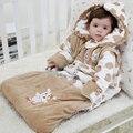 Животное Ребенка Спальный Мешок Для Новорожденных Осень Зима Согреться Предотвращение Ногами Одеяло Хлопка Sleepsacks Пижамы в шляпе
