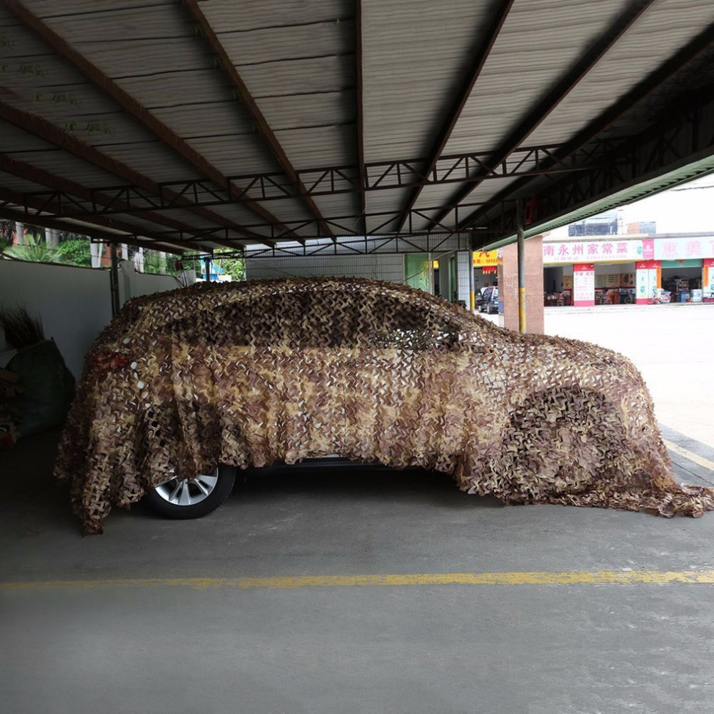 Camping Camouflage Net Army Military Camo Net Car Covering Tent Hunting Blind Netting Jungle/Desert/White Cover Conceal Drop Net