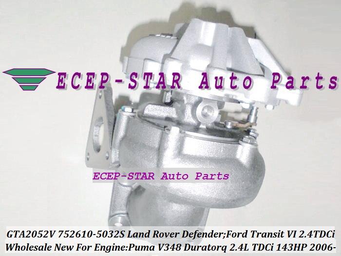 GTA2052VK 752610-0012 752610-0015 752610-0025 YC1Q6K682AE 752610 Turbo Pour Land Rover Defender Transit 6 Puma duratorq 2.4L TDCi