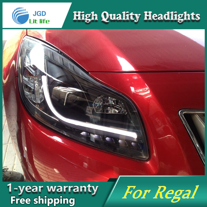 high quality Car Styling for Buick Regal 2009-2013 Headlights LED Headlight DRL Lens Double Beam HID Xenon Car Accessories 2016 stainless steel car styling front cup holder panel sequins for buick regal 2009 2016 car accessories decoration sequins