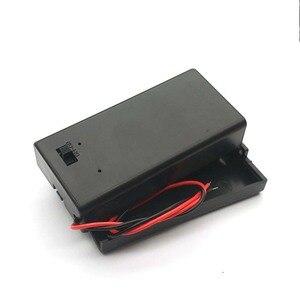 Image 4 - Pojemnik na pudełko baterii 9V z drut ołowiany obudowa przełącznika ON/OFF