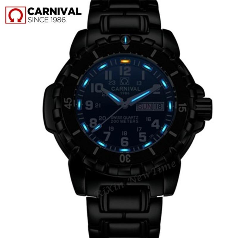 T25 tritium luminous men watches Waterproof200m military diving sports quartz watch men luxury brand clock erkek kol saati reloj