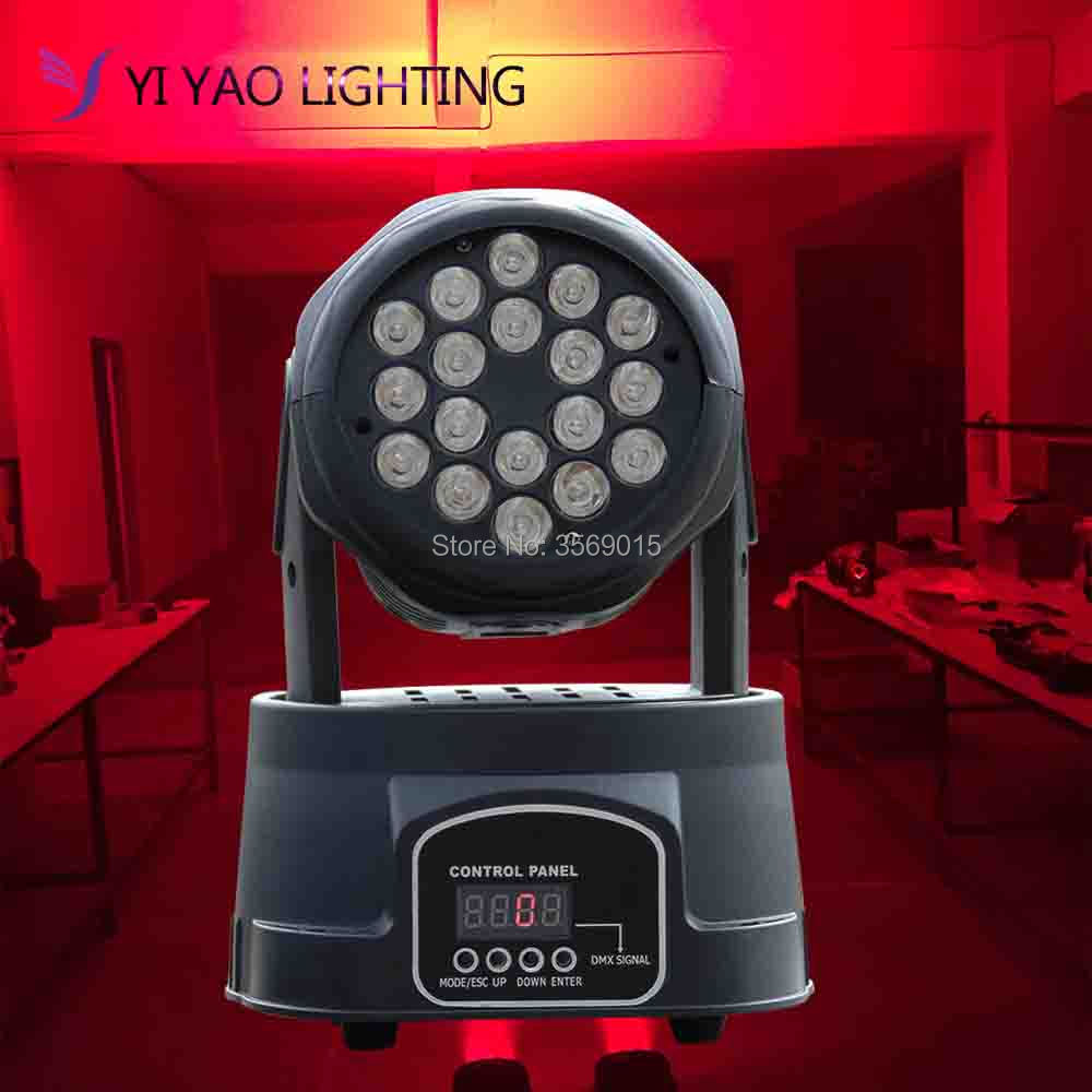 2018 HOT Beam 18x3W RGB Moving Head Light LED Wash Stage Lighting Good for dj2018 HOT Beam 18x3W RGB Moving Head Light LED Wash Stage Lighting Good for dj