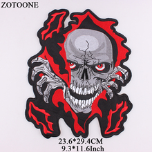 ZOTOONE Big Skull Patch Jacket Iron on Transfer Punk Patches for Clothes Applique Embroidery Rock Cloth Biker  2018 NEW G