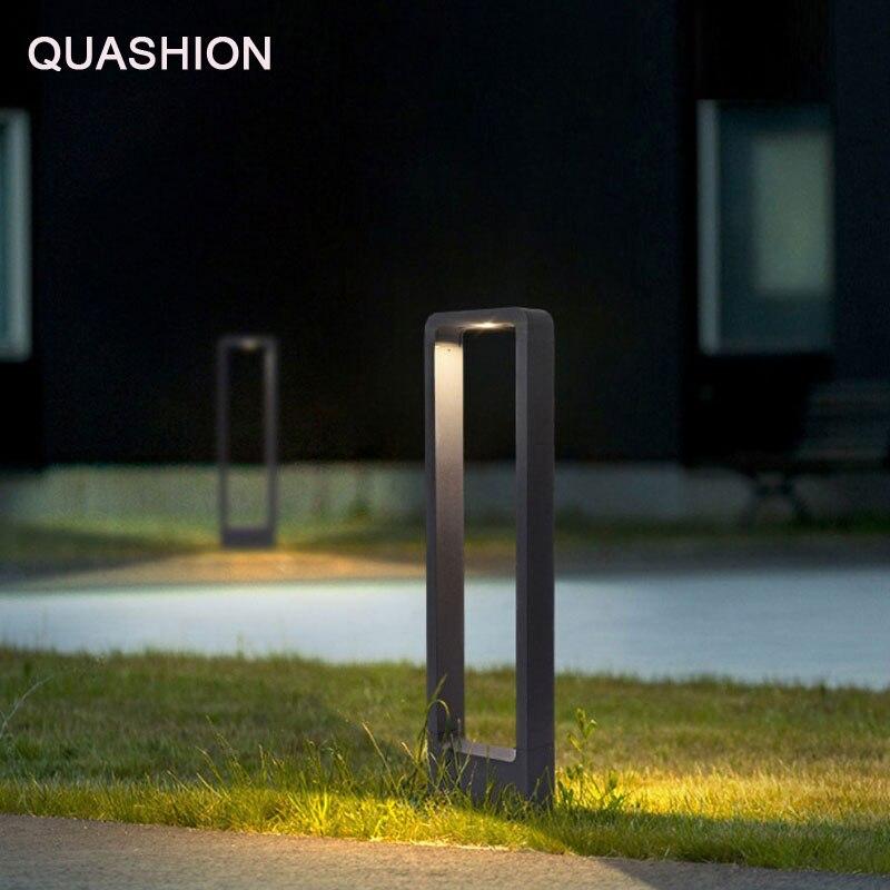 Waterproof 7W 10W LED Garden Lawn Lamp Minimalist Modern Landscape Park Lawn Light Garden Lighting Aluminum Lamp AC85 265V