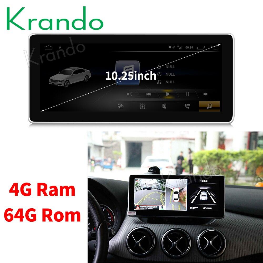 Krando Android 8 1 10 25 car radio dvd navigation for BENZ B CLASS W246 2016