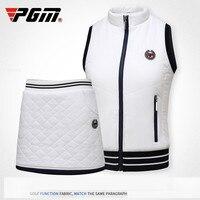 2018 PGM Winter Clothes Wear Autumn Warm Vest Thick Velvet Golf Jackets for Women Outdoor Waistcoat Windbreaker Vest size S XL