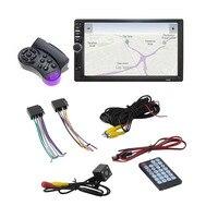 7018 2 Din 7 Inch HD Touch Screen Bluetooth In Dash 12V Car Stereo Radio FM
