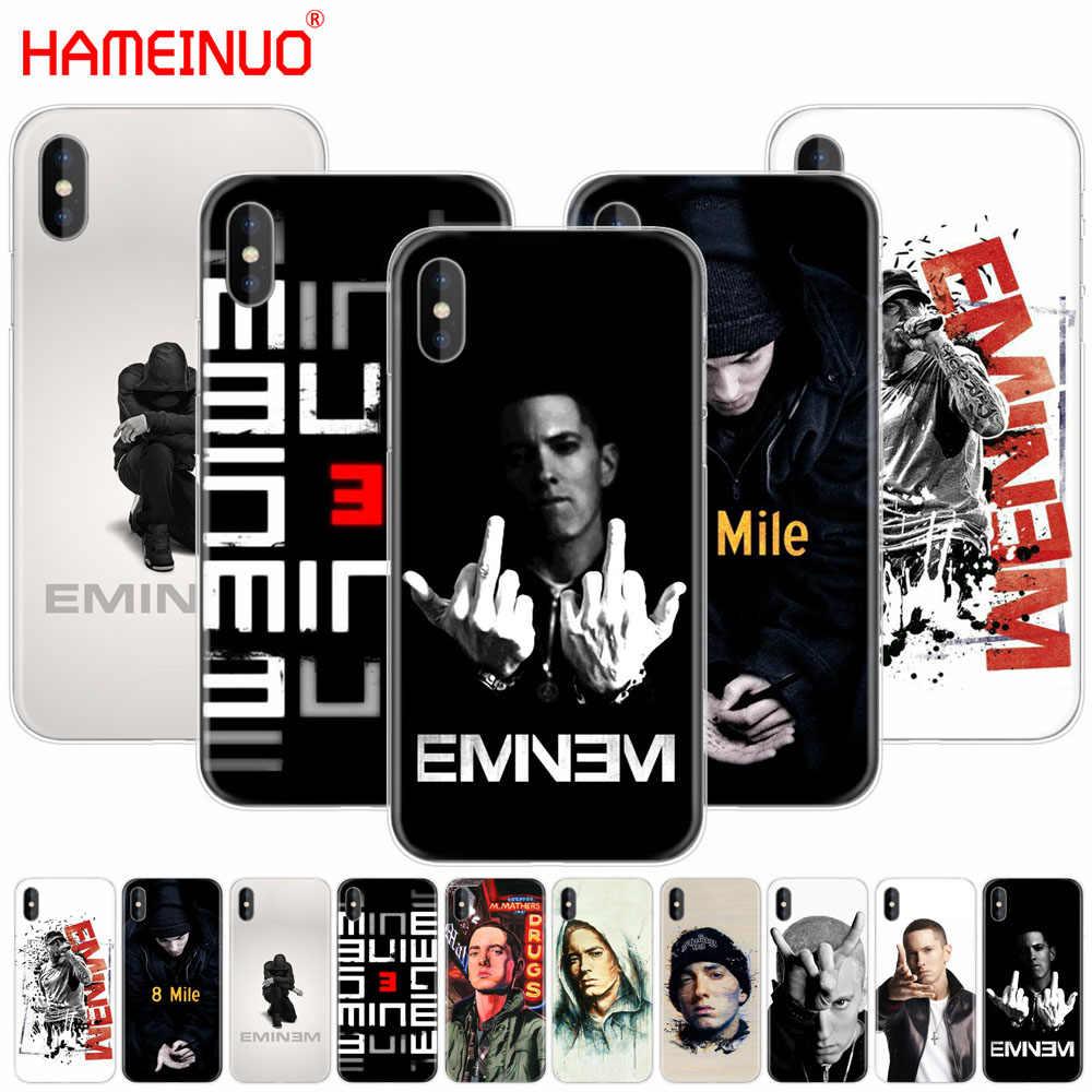 Hameinuo хип-хоп рэппер Эминем рэп сотового телефона чехол для iPhone X 8 7 6 4 4S 5 5S se 5C 6S плюс