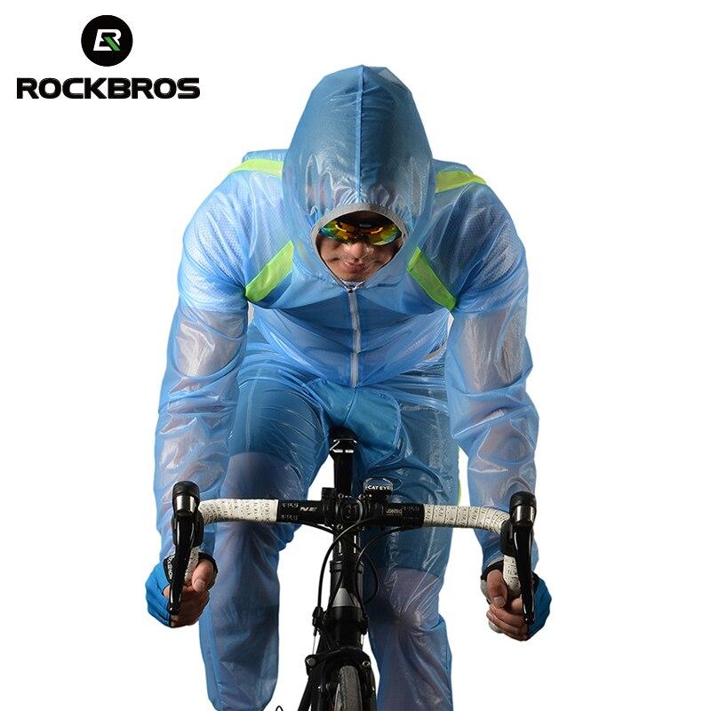 ROCKBROS respirant compressé pare-brise imperméable à l'eau vent manteau costume vélo de montagne vélo équitation imperméable pantalon