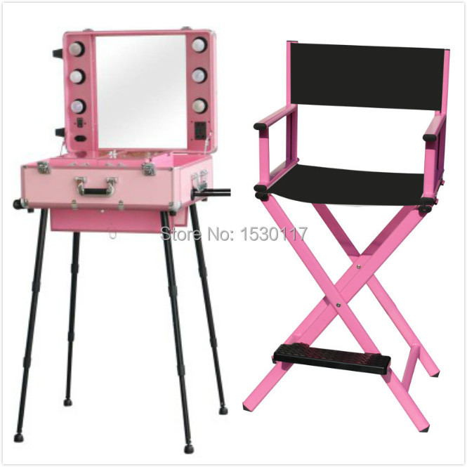 Makeup Chairs Wrought Iron Garden Table And 4 2 Pcs Studio With Light Aluminum Case Lights Foldable In Cosmetic Bags Cases From Luggage On