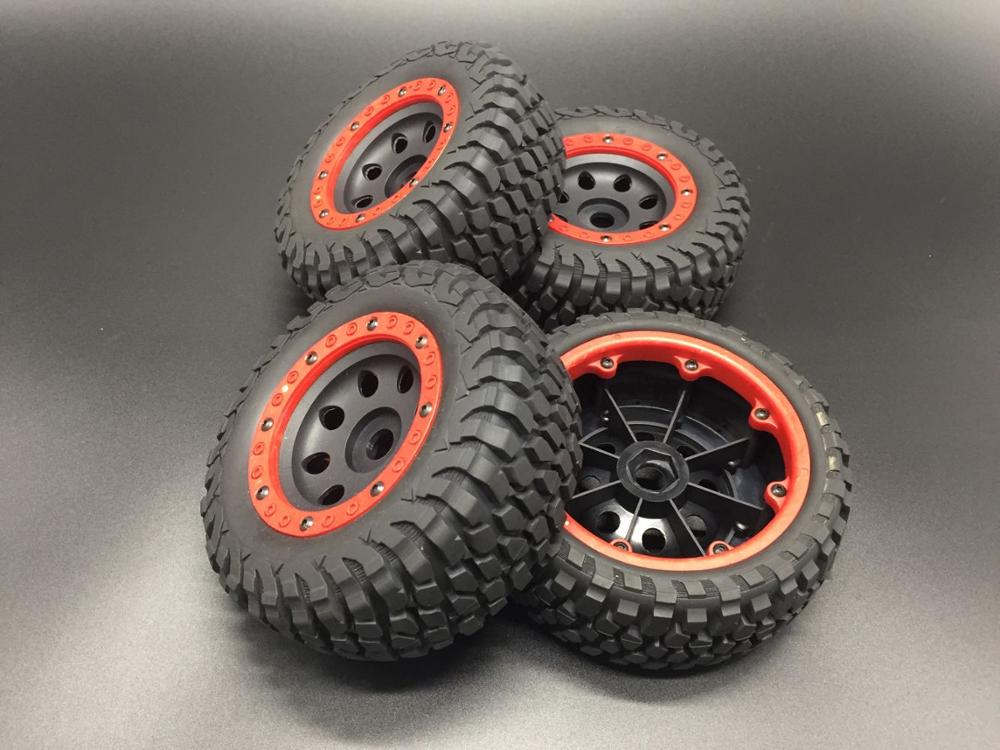 New 17mm Hex 1:8 Car Ruber Tire Wheel Rim Tyres Rubber Tires Hub Hex for RC Crawler Buggy Off-Road aAXXAS LOSI KYOSH Truck 4PCS(China)
