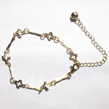 Cross Flower Bracelet Gold Fine Bracelet Fine ankles Priced Direct Selling
