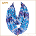 New Hot Female Stripe Ring Scarves Women Chevron Infinity Shawl Fashion Print Plaid Wave Zig Zag Loop Scarf