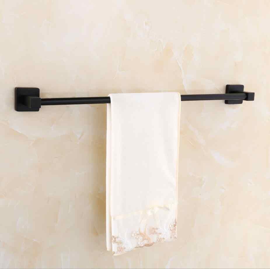40/50/60 cm w stylu Vintage czarny ze stali nierdzewnej wieszak na ręczniki akcesoria łazienkowe ręcznik pojedynczy wieszak na ręczniki nowoczesne ręcznik powiesić