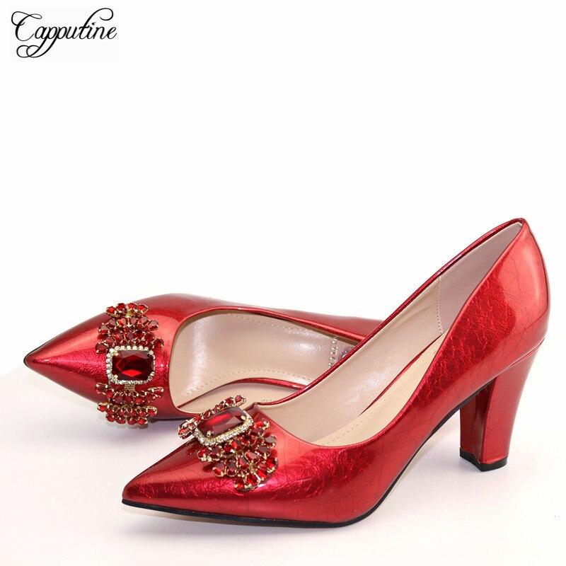 Nice rouge printemps/automne chaussures à talons hauts pointus sandale chaussures hauteur de talon 10 cm, 9762-1, 6 couleur