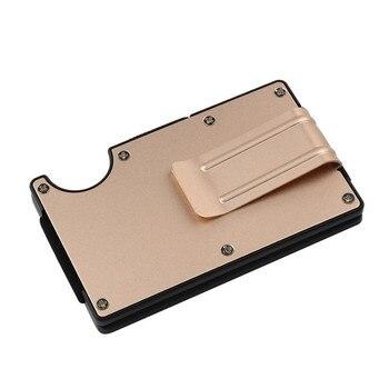 Men Metal Wallet Bank ID Credit Card Holder Anti Theft Travel Wallet Orgenizer Aluminium Male Wallet Dropshipping 21035 lego