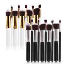 Hot sale 10 Pcs Professional Makeup Brush Set Powder Eyeshadow Foundation Brush Cosmetic Tool Kits pincel maquiagem Free Ship