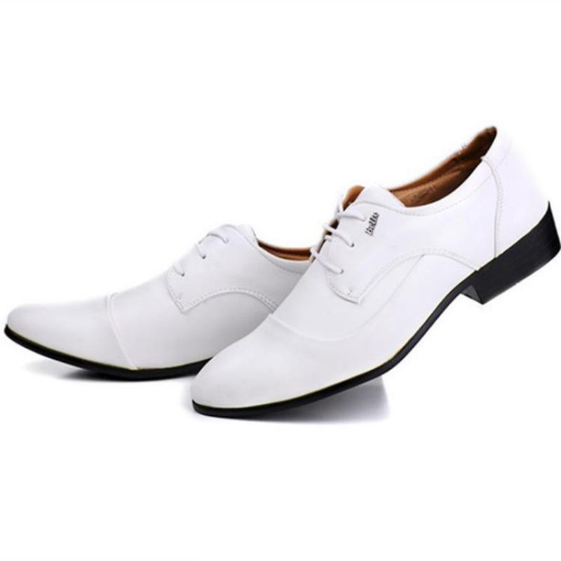 Popular Mens White Leather Dress Shoes-Buy Cheap Mens