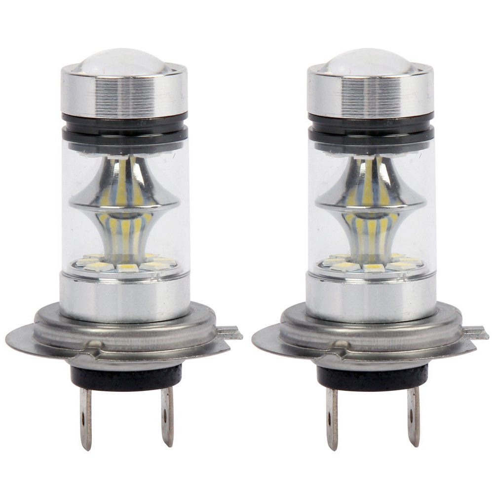 1 Pair High Power LED H7 Bulb 100W 20LED Car Fog Light Lamp Headlights 6000K White