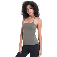Women's Camisole Fitness Chest pad nylon Singlet Elastic sports breathable camisole for fitness, sport, running 044